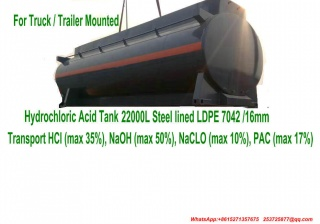 Custermizing Truck Trailer Mounted Hydrochloric Acid Tank Portable ISO Tank Containers