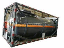 Container 20FT ISO Round Tank Steel Lined Polyethylene Plastic LDPE 16mm for 18kl-20kl Hydrochloric Acid